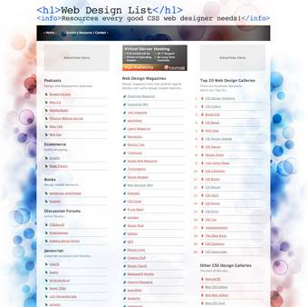 Web Design List - Website Resources